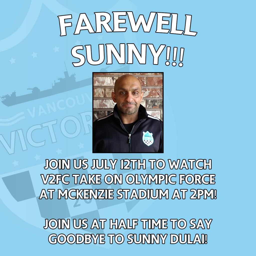 sunny dulai  u0026quot farewell match u0026quot  on sunday as victory host force